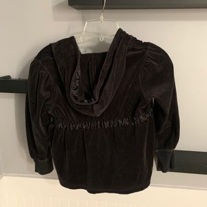 Gymboree Shirts & Tops - Black Zip Up Hoodie with Bow